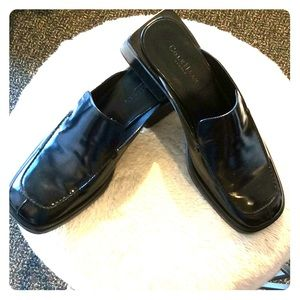 Cole Haan Black Leather Slip-ons